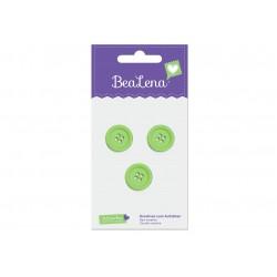 BeaLena, 3 Knöpfe in grün, 18mm Durchmesser