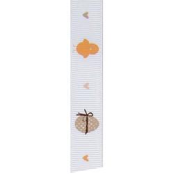 """Hotex Ripsband """"Küken und Eier"""", 15mm breit, Ostern"""