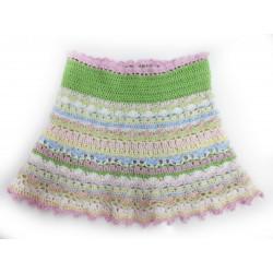 Handgefertigter Sommerrock für Mädchen in frischen Farben