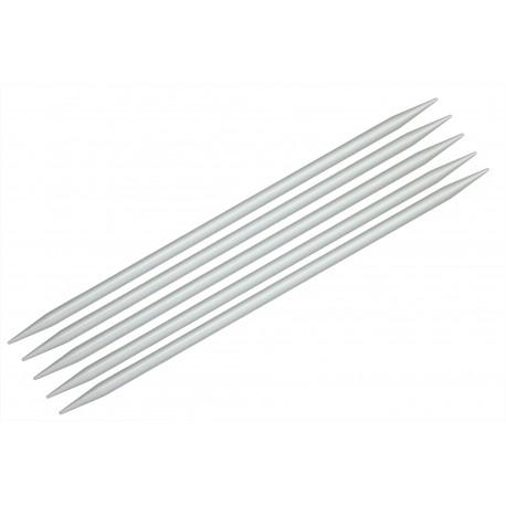 "KnitPro 5er - Stricknadel-Spiel mit Doppelspitze ""Basix"", Aluminium, Stärke: 4,5mm, verschiedene Längen"