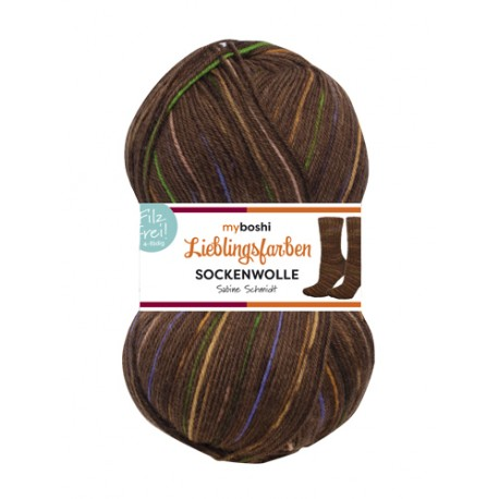 "myboshi Sockenwolle ""Familie Schmidt"" Lieblingsfarben, 100g, Sockenwolle"