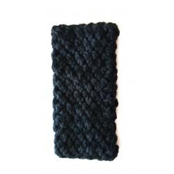 Stirnband für Erwachsene, Flechtmuster, schwarz, Einheitsgröße, handgefertigt