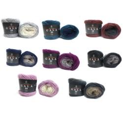 H&W Comfort Wolle GALA, 50g, alle Farben, Farbverlaufsgarn, leichte Wolle, Wolle zum Stricken