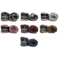 H&W Comfort 3D, 100g, alle Farben, Relief, 3D Wolle, Ganzjahresgarn, Wolle zum Stricken