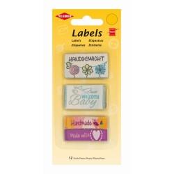 Labels aus Stoff, Handmade 12 Stück, Stofflabel, Stofflabels zum Annähen, Kleiber