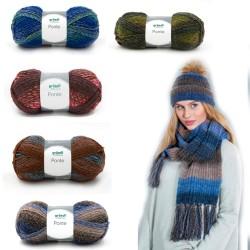 Gründl Ponte, 100g, multicolor Wolle, günstige Wolle, Wolle zum Stricken, Häkelwolle, Strickgarn, Häkelgarn