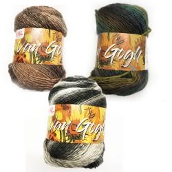 Mondial Van Gogh, 100g, Farbverlaufsgarn, Dochtgarn, Strickgarn, Strickwolle, Wolle zum Stricken, Wolle zum Häkeln