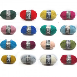 H&W Comfort Sockenwolle Uni Trend einfarbig, 100g, Strickgarn, Strickwolle, Wolle zum Stricken
