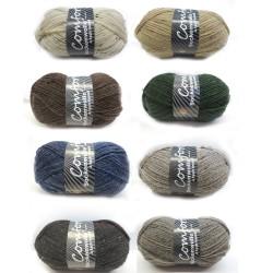H&W Comfort Sockenwolle Tweed, 100g, Strickgarn, Strickwolle, Wolle zum Stricken, Sockengarn