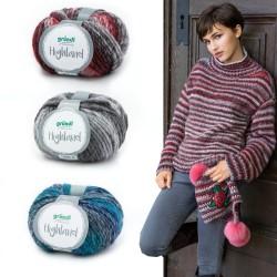 Gründl Highland, 50g, Farbverlaufsgarn, Strickgarn, Strickwolle, Wolle zum Stricken, Wolle zum Häkeln