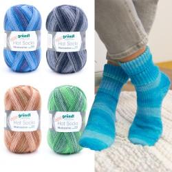 Gründl Hot Socks Malcesine, 6-fach, 150g, Sockenwolle, Strickgarn, Strickwolle, Wolle zum Stricken, Wolle zum Häkeln