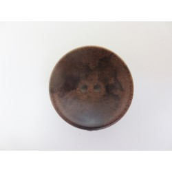 Knopf in Holzoptik und Schalenform, 23mm, Knöpfe, Kunststoffknopf