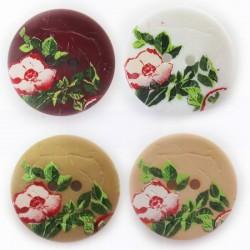 """Knopf """"Rose"""" 20mm, verschiedene Farben, Knöpfe, Kunststoffknopf"""