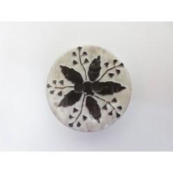 Knopf Blüte, 20mm, braun/natur, für Trachten, Knöpfe, Kunststoffknopf