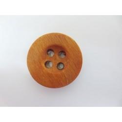 Holzknopf rund, 25mm, rot-braun, Knöpfe, Holzknöpfe