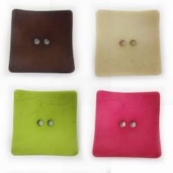 "Holzknopf ""Quadrat"", 60mm, verschiedene Farben, Knöpfe, Holzknöpfe"