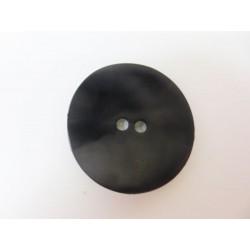 Schwarzer Kunststoffknopf, uneben, 28mm, Knöpfe, Kunststoffknopf