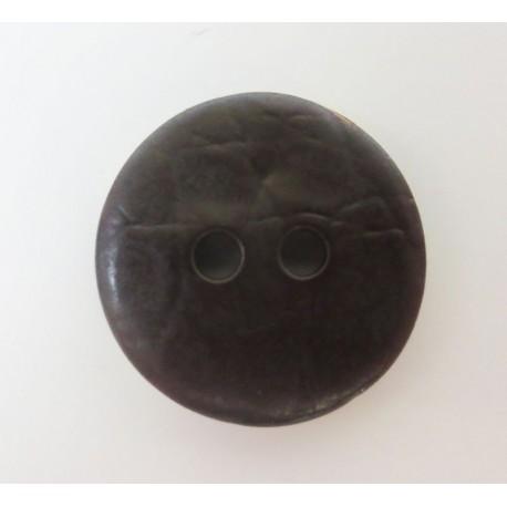 Knopf Lederoptik, 18mm, Knöpfe, Kunststoffknopf