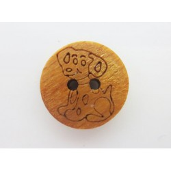 Holzknopf Hund, 15mm, Knöpfe, Knopf aus Holz