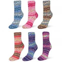 Rellana Flotte Socke Wool Free Stretch, 100g, Sockenwolle, Strickgarn, Strickwolle, Wolle zum Stricken, Sockengarn, Häkeln