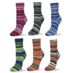 Rellana Flotte Socke Salsa, 100g, Sockenwolle, Strickgarn, Strickwolle, Wolle zum Stricken, Sockengarn, Häkeln