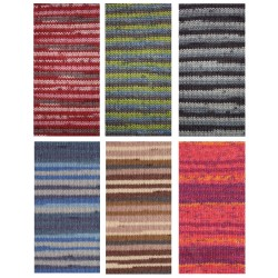Kartopu Stretch Socks Prints, 100g Sockenwolle, Sommersockengarn Strickgarn, Stricken, Wolle, Strickwolle, Häkeln