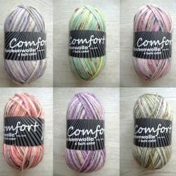 H&W Comfort 0421, 100g, Sockenwolle, Sockengarn, günstige Wolle, Strumpfwolle, Wolle zum Stricken
