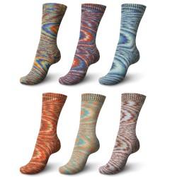 Schachenmayr Regia Boho Color 4-fädig , 100g, Strickgarn, Strickwolle, Wolle zum Stricken, Sockengarn