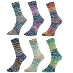 Pro Lana Golden Socks Surprise Glitzer 100g Sockenwolle, Sockengarn, Strumpfwolle, Wolle zum Stricken, Garn