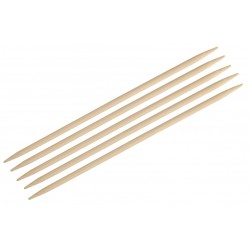 """KnitPro 5er - Stricknadel-Spiel mit Doppelspitze """"Bamboo"""", aus Bambus, verschiedene Längen und Stärken"""