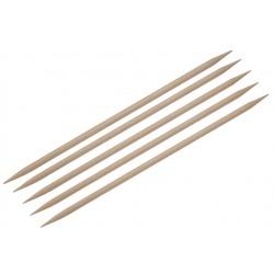 "KnitPro Stricknadel-Spiel (5er) ""Basix"", aus Holz, Doppelnadelspitze, Länge: 20cm, Stärke: 5mm"