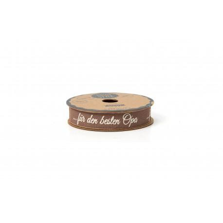 """Hotex Geschenkband """"Für den besten Opa"""", 15mm breit"""