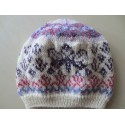 Baskenmütze im Fair Isle Style, Kopfumfang: 50-52 cm
