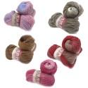 H&W Comfort Ombre, 100g Farbverlaufsgarn, 5 Farben