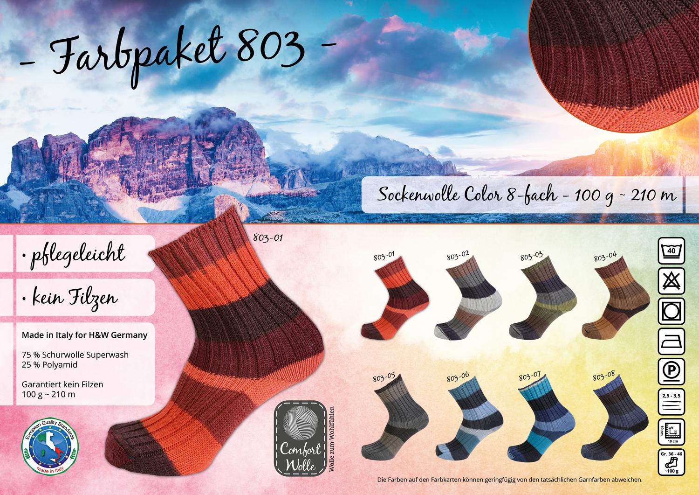 Comfort Sockenwolle Color 803